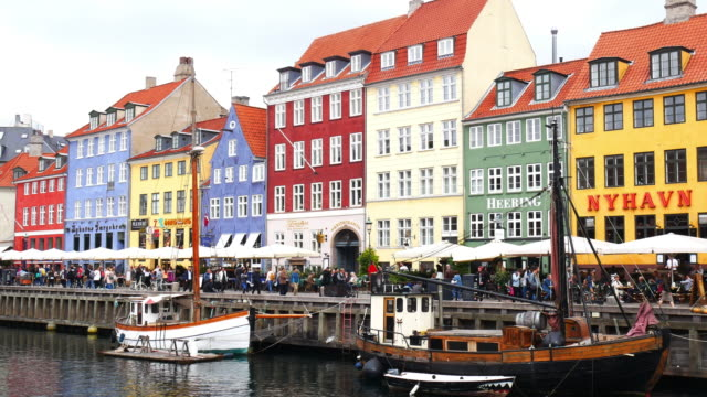 Nyhavn, Copenhagen, Denmark - famous tourist place in Scandinavia